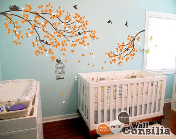 Best WallConsilia Tree Style Decals Images On Pinterest Tree - Nursery wall decals gender neutral