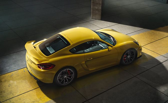 New Price Review Porsche Cayman GT4 Release Rear View Model