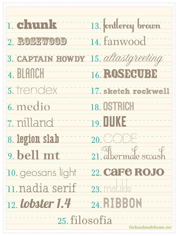 fonts: Fonts Typography, Fonts Fonts, Fonts Free, Handmade Home, Free Fonts, 25 Free, Fabulous Fonts, Font Snob, Fun Fonts