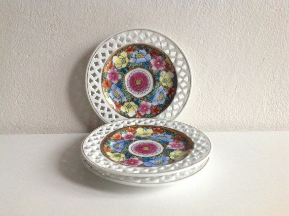 Home Decor Three Asian Vintage Saucers with flower от SashaStore, $18.90