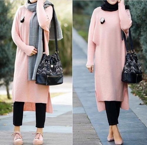 maxi sweater dress hijab-Colorful and chic hijab collection – Just Trendy Girls