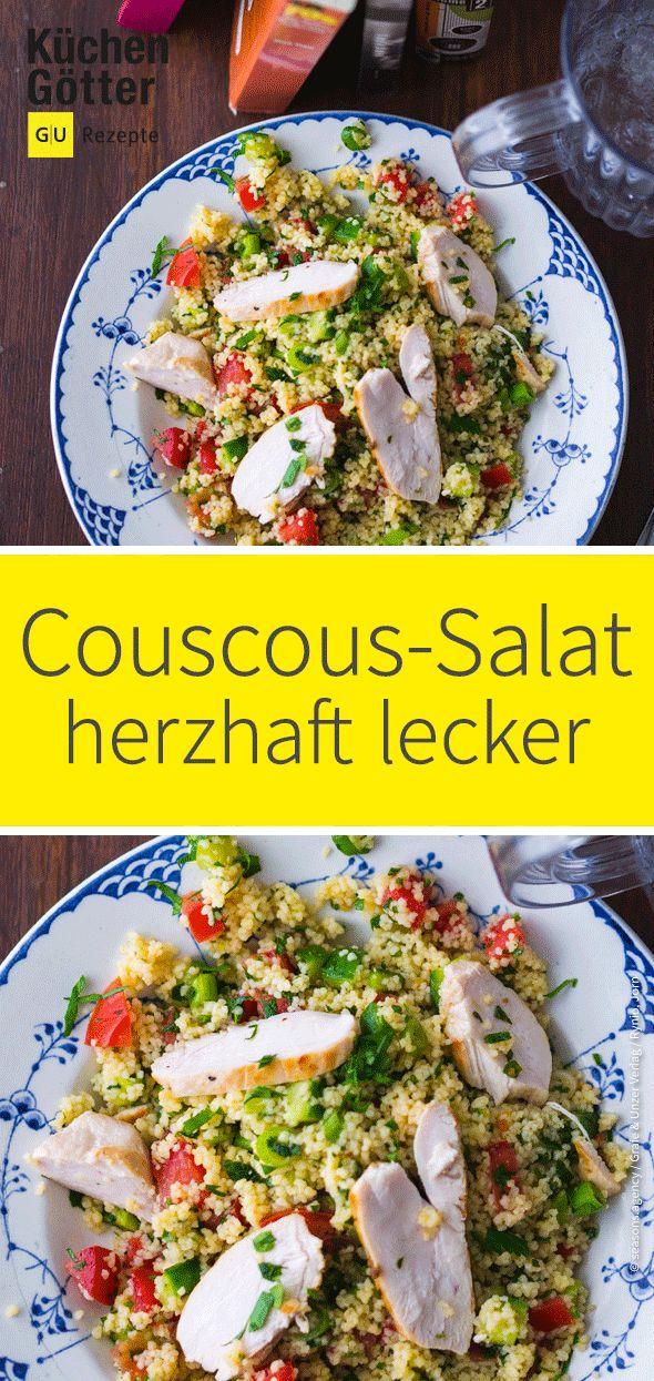 Heute machen wir Couscous-Salat mit saftigem # Hähnchenbrustfilet und viel Brötchen …   – Salat-Rezeptideen