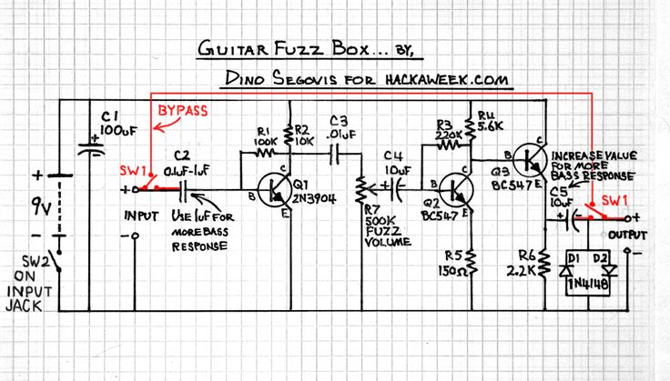 guitar fuzz schematic guitar fx pinterest hacks and guitar. Black Bedroom Furniture Sets. Home Design Ideas