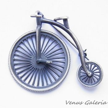 Brooch silver - Bicycle