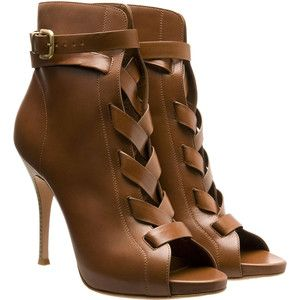 Gianvito Rossi Brown Leather Ankle Booties