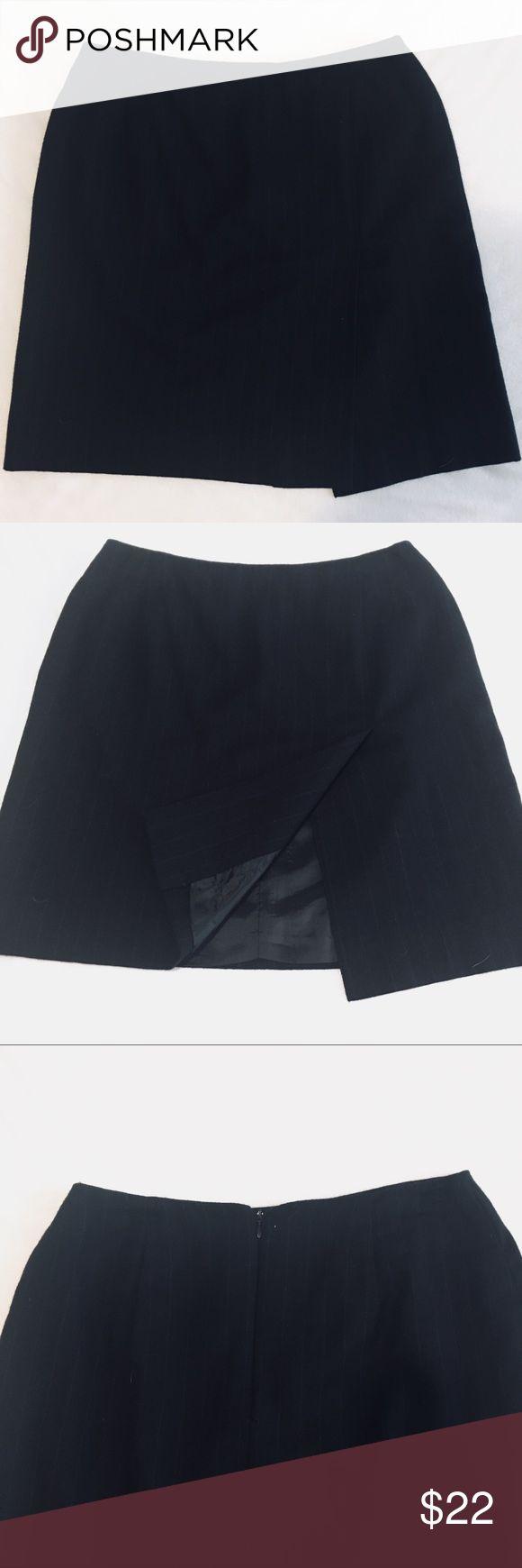 "✨NEW ITEM✨Ralph Lauren Petite Wool Pinstripe Skirt Worn two times. Near perfect condition! Skirt has a slit/flap on front.  Zip up the back. Fully lined. Very light pinstripe.  100% Worsted Wool Petite 19"" in length Waist: 16"" across front flat. Lauren Ralph Lauren Skirts Mini"