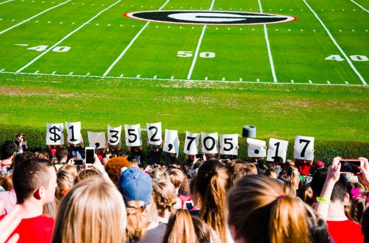 More than 3,000 University of Georgia students gathered in Sanford Stadium Sunday morning to celebrate a record-setting $1,352,705.17 raised for Children's Healthcare of Atlanta.  Since its inception, Miracle has raised more than $7 million for Children's Healthcare — $3 million of that total from last three years.