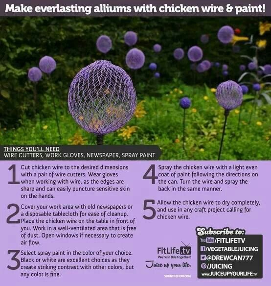 Chicken wire globes. I'm trying it with glow in the dark spray paint!