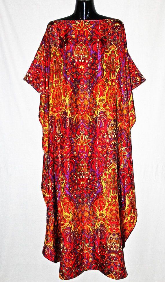 Full Length Boatneck Silk Kaftan by MollyKaftans on Etsy, $169.00