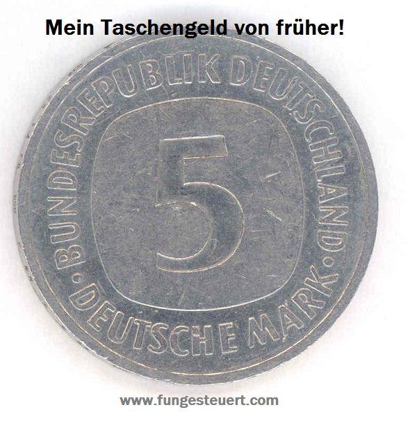 5 Deutsche Mark - Mein Taschengeld von früher. Man was war ich damals REICH!!!