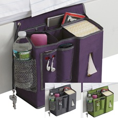 Bedside caddy- great for the top bunk in a dorm room.