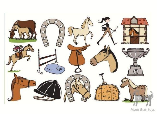 Drewniane stempelki KONIE w Sztuka dla dzieci Dziecięca twórczość zabawy plastyczne Pikinini-More than toys, zabawki ekologiczne, gotowanie z dziećmi, Pippi, Muminki, zabawki, ogrodnictwo, książki