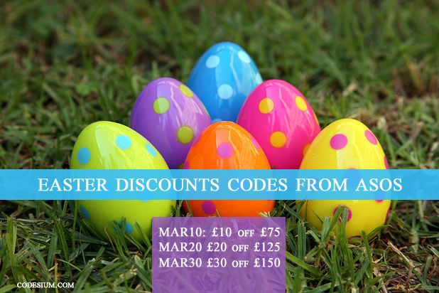 Promo codes for ASOS UK during Easter 2016. Save up to £30 with code MAR30. http://www.codesium.com/asos-discount-code/
