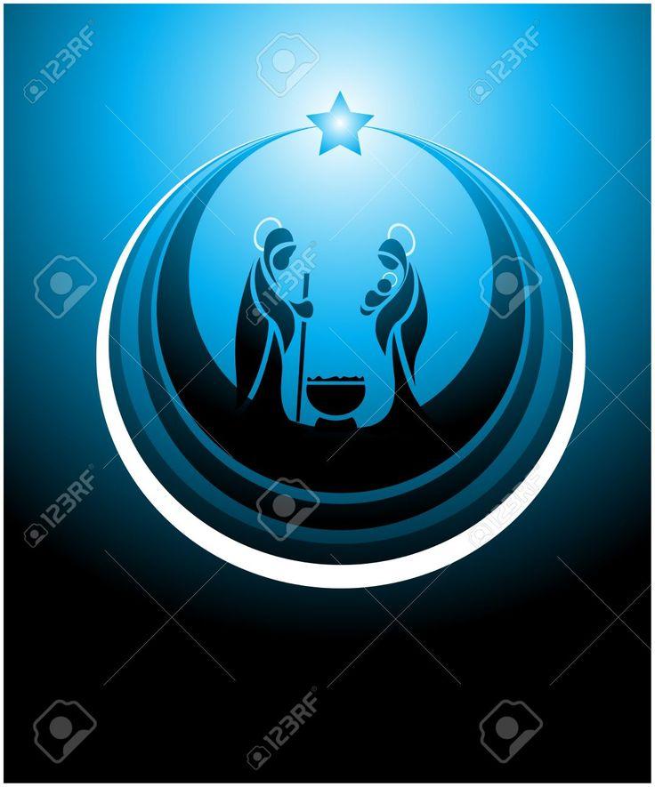 Icona Raffigurante Il Presepe In Blu Clipart Royalty-free, Vettori E Illustrator Stock. Image 10626718.