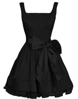 Unique black evening dress