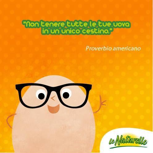 """""""Non tenere tutte le tue uova in un unico cestino"""" Proverbio americano"""