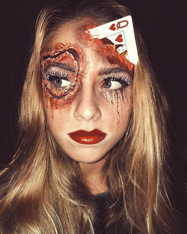 halloween make up gespenst