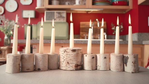 Machen Sie eine DIY Birkenholz Menorah - New Ideas Woodworking Furniture Plans, Woodworking Projects, Woodworking Videos, Woodworking Wood, Diy Wedding Video, Wedding Ideas, Wedding Inspiration, Diy Rustic Decor, Diy Candles