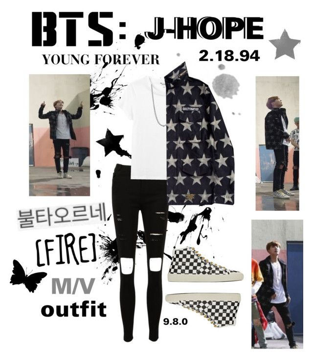 """""""BTS: J-HOPE """"Fire"""" M/V Outfit"""" by itzbrizo ❤ liked on Polyvore featuring Monki, BERRICLE and Yves Saint Laurent"""