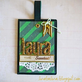 Personalized glittery name tag