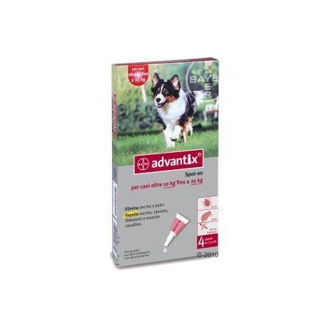Elimina pulci e zecche, ed ha un effetto repellente nei confronti di zecche, zanzare e flebotomi. In comode pipette, per un'applicazione facile e precisa. Per cani da 10 a 25 kg di peso. 10 ArticoliIn Stock 32,20€. #antipulce #cani