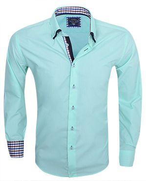 Italiaans overhemd aqua-marine vind je online bij Italian-Style.nl
