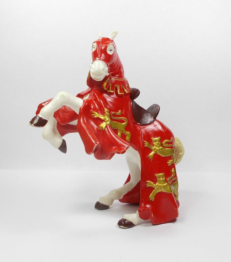 Papo - Horse Toy Figure - Medieval - Knights - Papo 2001 - E.L.C. Fantasy
