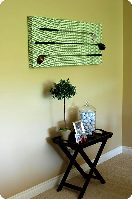 Perfect for K's man room. Use clubs SB gave him.