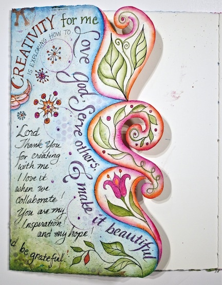 visual blessings: Gratitude Journal - great edge treatment for the journal page