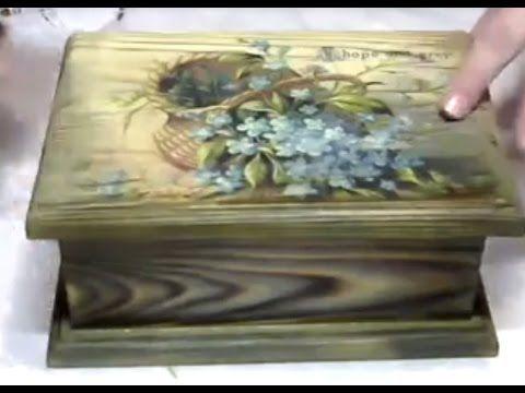 Татьяна Блохнина Вживление распечатки в брашированную поверхность - YouTube
