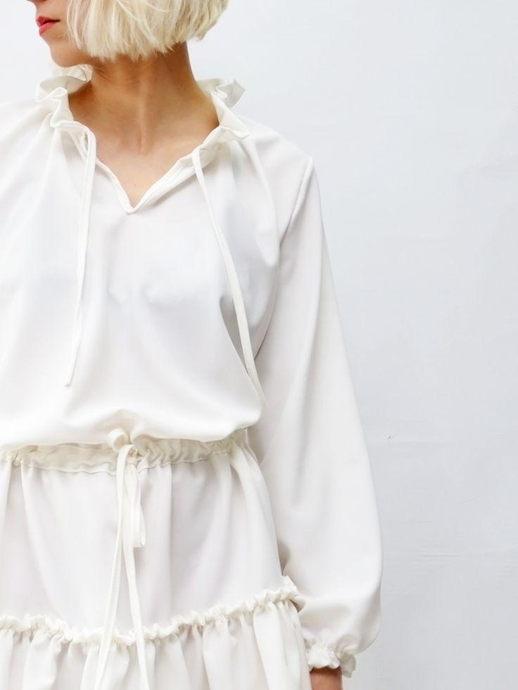 Zwiewna sukienka LaLu ecru AchVeverka.pl #dress #ecru #spring #summer #sukienka #achveverka #lalu