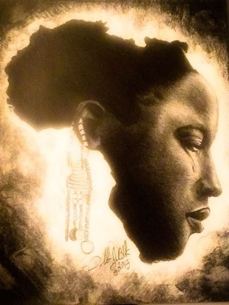 """AFRICA ON HER MIND"" by Orlando J. Black"