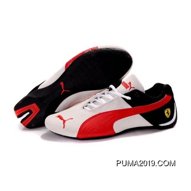 Mens Puma Future Cat Ferrari In White-Varsity Red-Black Authentic