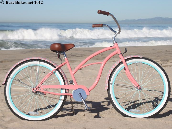 "sixthreezero LIMITED EDITION Paisley Single Speed, Coral Pink - Women's 26"" Beach Cruiser Bike"