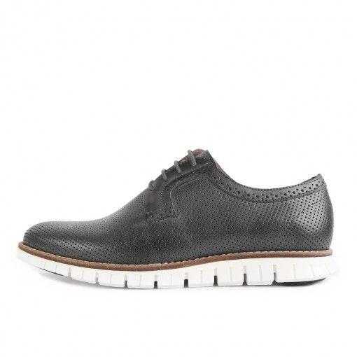 Shoot SH216815E Herren Halbschuhe Grey Cuero Black #lpu #sneaker #dailydrops #hypesrus