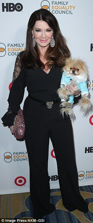 Family Equality Council's Impact awards in Beverly Hills. Always chic: Lisa Vanderpump, 56, looked chic in a flowy black jumpsuit which included she...