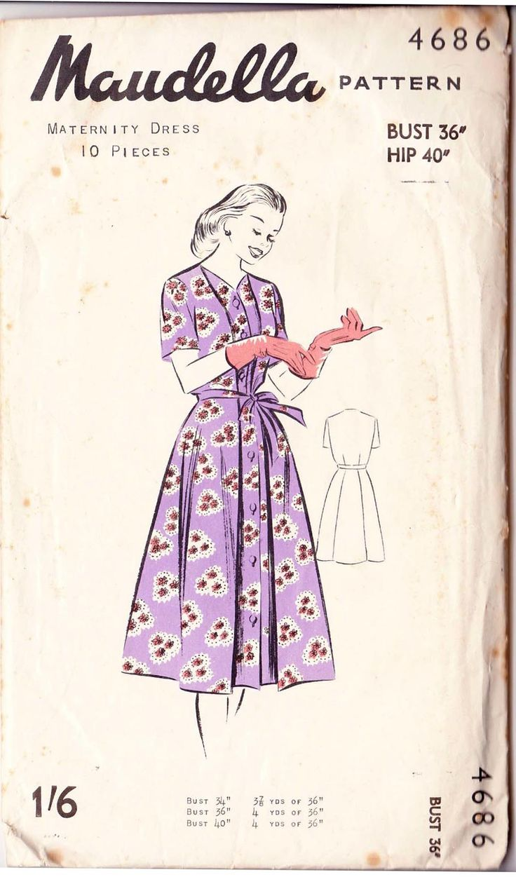 279 best maternity clothes images on pinterest vintage sewing vintage maudelle maternity dress sewing pattern ombrellifo Gallery