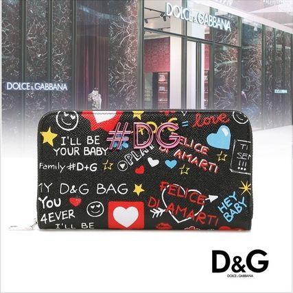 ★2018SS★Dolce & Gabbana★Muralesプリント DGロゴ 長財布