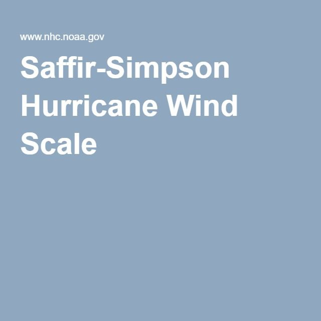 Saffir-Simpson Hurricane Wind Scale ~ THIS would need to be updated after Katrina.