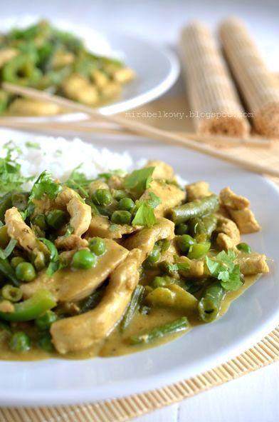 Tajskie zielone curry z kurczaka