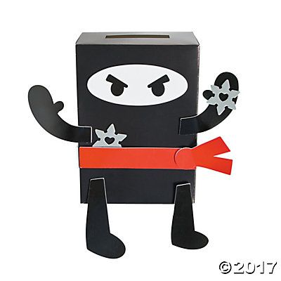 Ninja Valentine Card Holder Box Craft Kit
