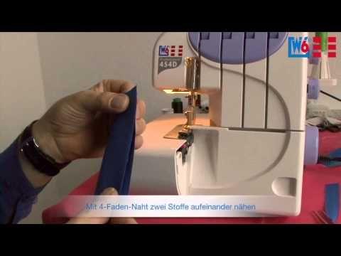 W6 Wertarbeit Nähmaschine OV 454 D - YouTube