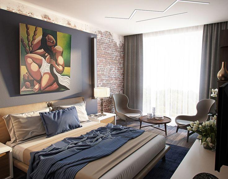 Спальня в таунхаусе #дизайнспальни #дизайнкомнаты #дизайнинтерьера #спальня #дизайнквартиры #interiordesign #bedroomdesign