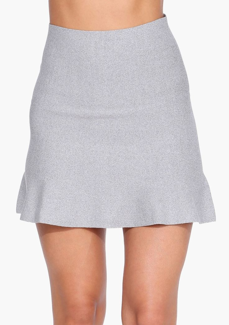 Love Is Love Mini Skirt in Grey