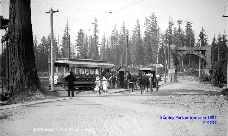 Stanley Park entrance VPL Accession Number: 19797 Date: 1897 Photographer / Studio: Bailey Bros. http://www3.vpl.ca/spe/histphotos/