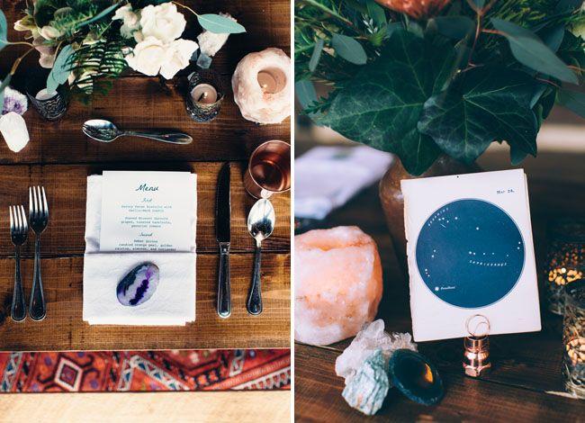Eclectic Celestial Wedding Inspiration | Inspiration ...