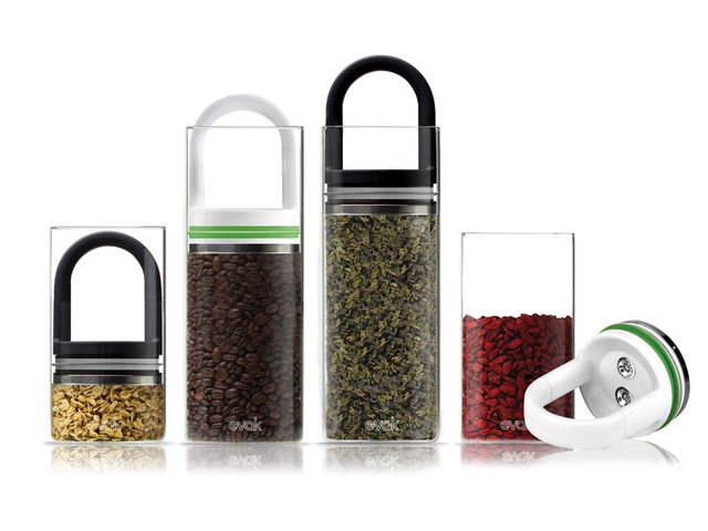 """EVAK- """"Food in, Air out"""" Glass Food Storage Container by Pollen Design/ Ed Kilduff — Kickstarter"""