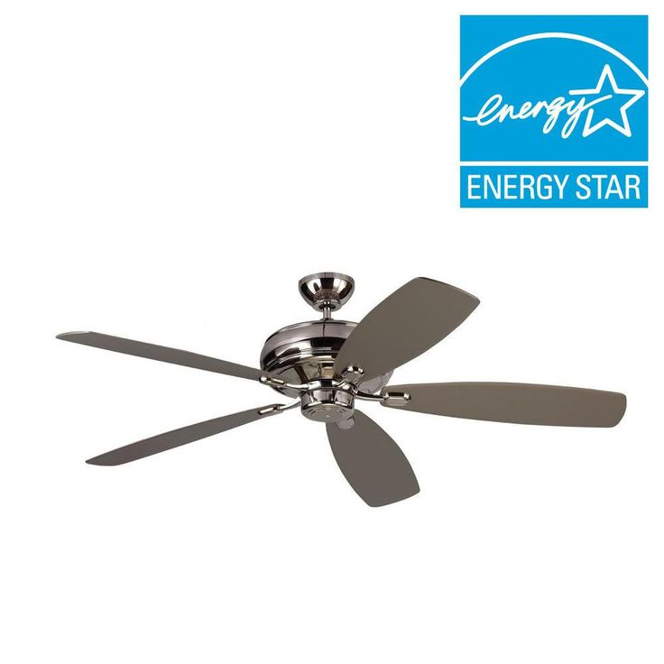 Monte Carlo Embassy Max 60 in. Polished Nickel Silver Ceiling Fan