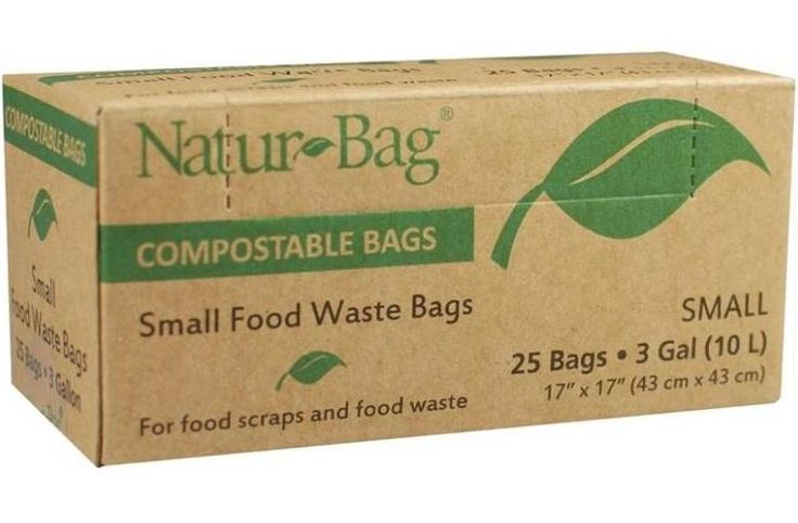 Natur-Bag NT1075-RTL-00004 Small Food Waste Compostable Bag, 3 Gallon