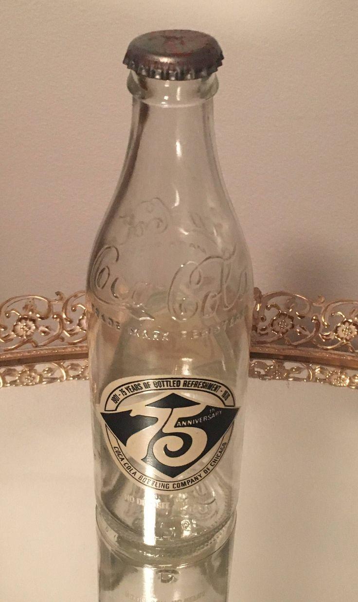 Vintage Coca Cola Bottle 75th Anniversary Coca Cola Bottling Company Chicago by SchmitysVintageBooty on Etsy